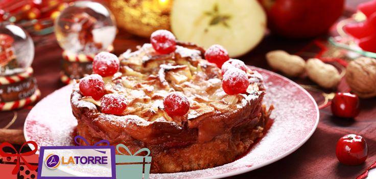 Un pastel de manzana perfecto para navidad. Se trata de una sencilla receta que no te tomará mucho tiempo y será perfecta para tu cena navideña.