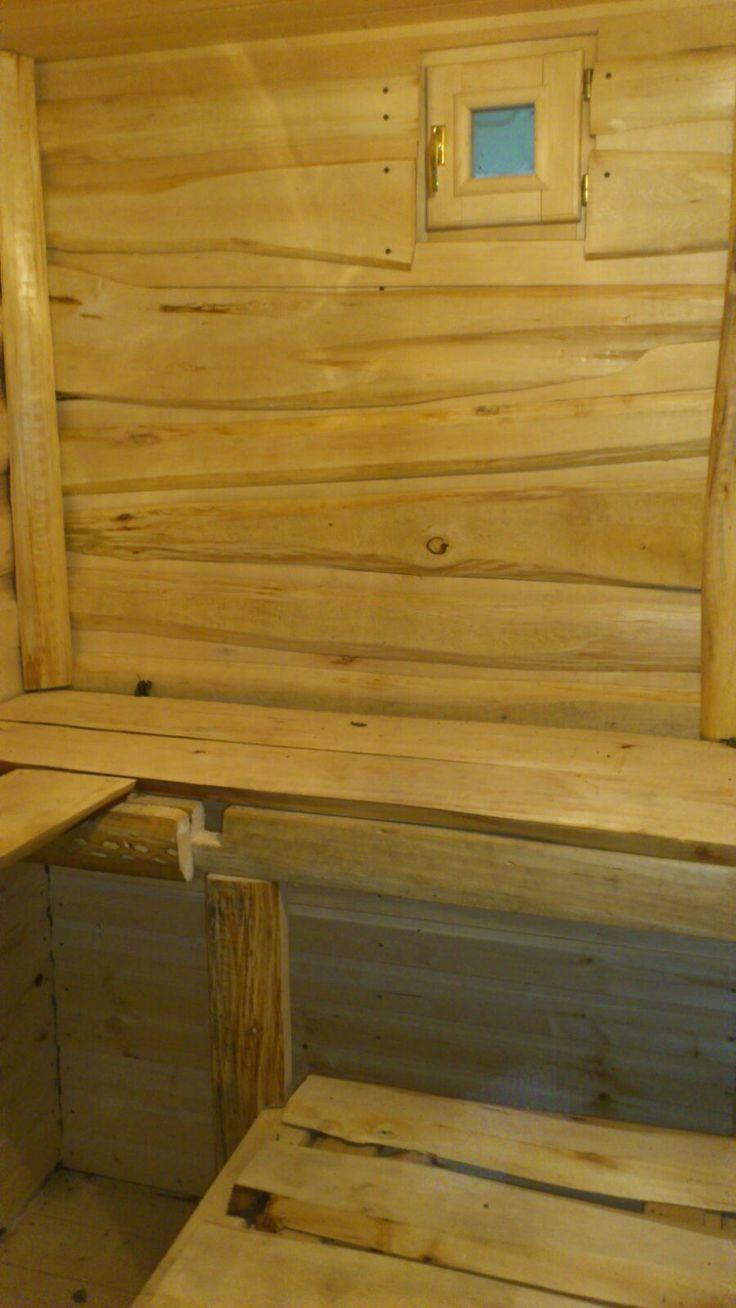 Баня липа, горбыль необрезной сделано руками. bath hand made linden