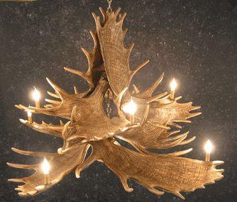 Moose 10 Antler Chandelier - SALE