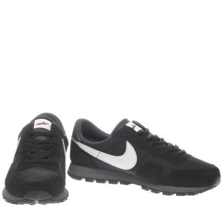 mens nike black & white air pegasus 83 trainers