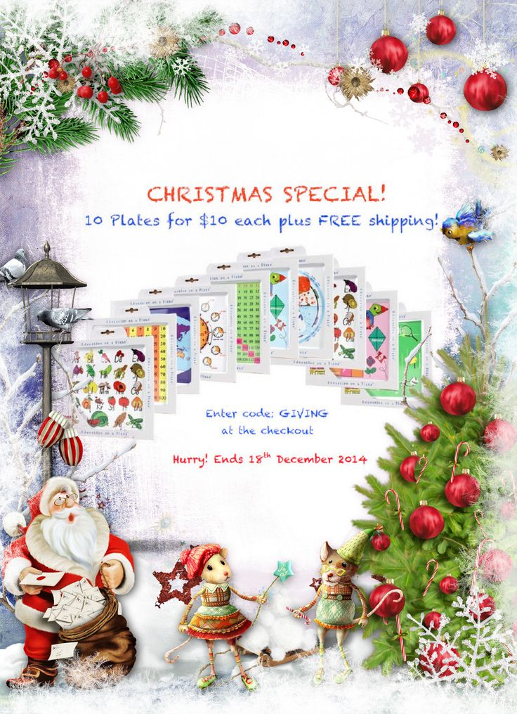 Only two days of our #Christmas special left! 10 Plates for $10 and free shipping!