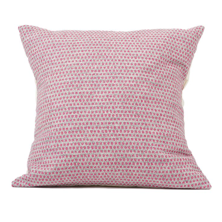 Classic Clarendon Cushion Hot Pink on Grey