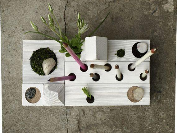 Desk Organizer, Zen Garden, White by Karolin Felix Dream contemporary desk accessories — Designspiration