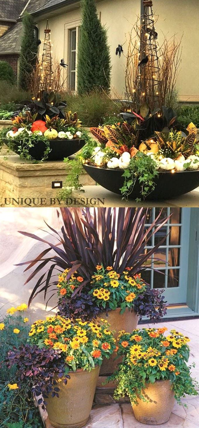 22 Beautiful Fall Planters For Easy Outdoor Fall Decorations Diy