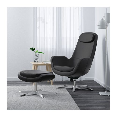 IKEA ARVIKA swivel armchair Moulded high resilience foam gives rounded shapes and durable comfort.