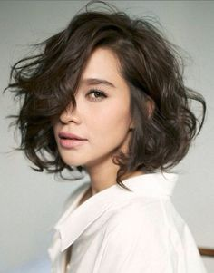 Messy Bob with Side Part