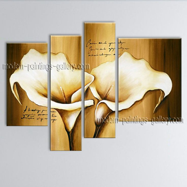 Huge hand painted abstract floral painting on canvas for Artworks for sale online