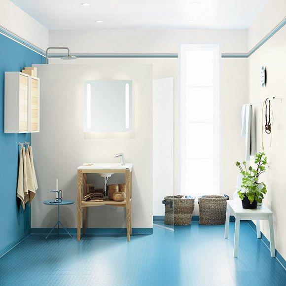 Tarkett våtrumsmatta Aquarelle Pastille Turquoise 25905 | Happy Homes