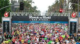 Rock N Roll San Diego Marathon; great feeling to be with all my fellow runners