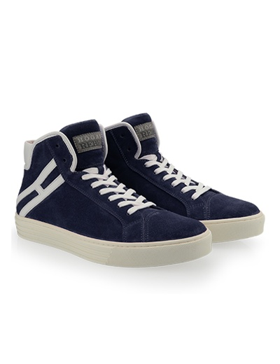 #HOGANREBEL Men's Spring - Summer 2013 #collection: High-Top #sneakers R206 in suede with contrasting rubber outsole.