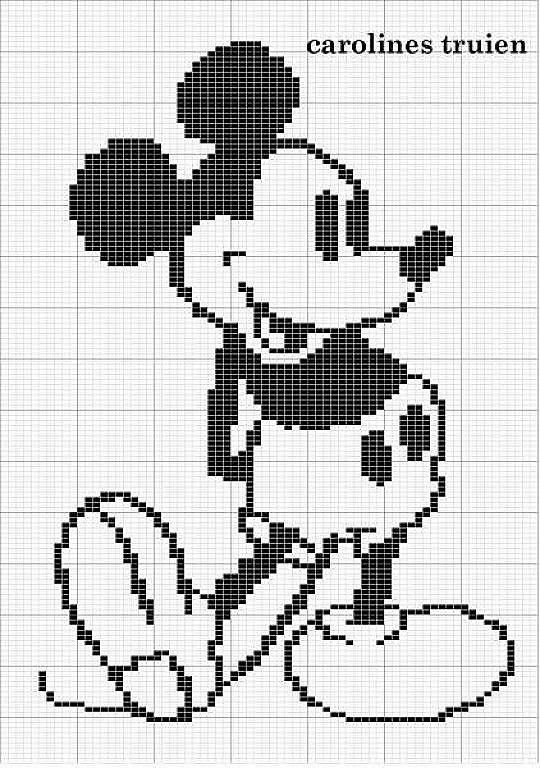 Mickey blanco y negro