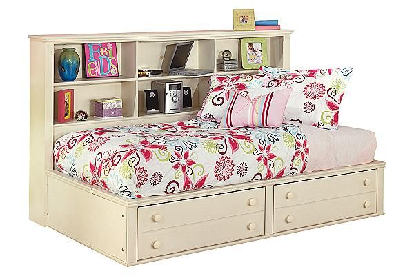 """The Cottage Retreat Youth Bookcase Bed from Ashley Furniture HomeStore (AFHS.com). The """"Cottage Retreat"""" youth bedroom collection takes early American country design to create a fun and inviting cottage retreat perfect for any child's bedroom."""