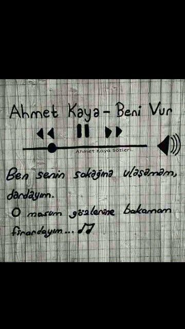 Ben senin sokağına ulaşamam dardayım ... Ahmet Kaya