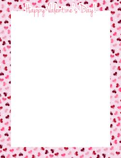 Page 13 Valentines Day Border Happy Valentines Day Page Borders