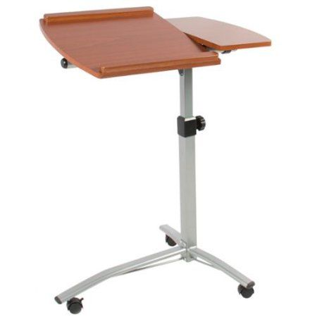 Angle & Height Adjustable Rolling Laptop Desk Cart Over Bed Hospital Table…
