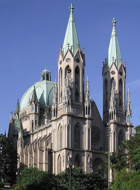 "Catedral Metropolitana de Sao Paulo, Brasil .................... #GlobeTripper® | https://www.globe-tripper.com | ""Home-made Hospitality"" | http://globe-tripper.tumblr.com/"