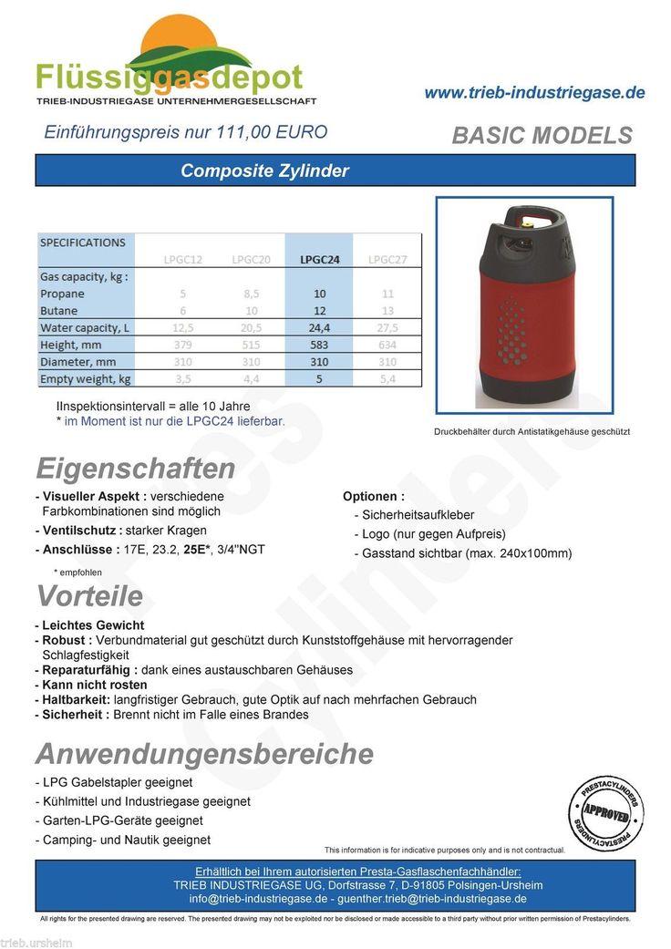 Propangasflasche Propan Gasflasche Camping BBQ Flasche 10 kg GFK Kunststoff Neu | eBay