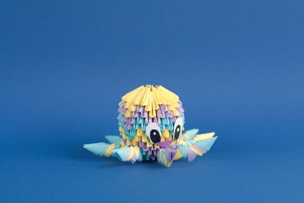 how to fold a cute 3D origami octopus