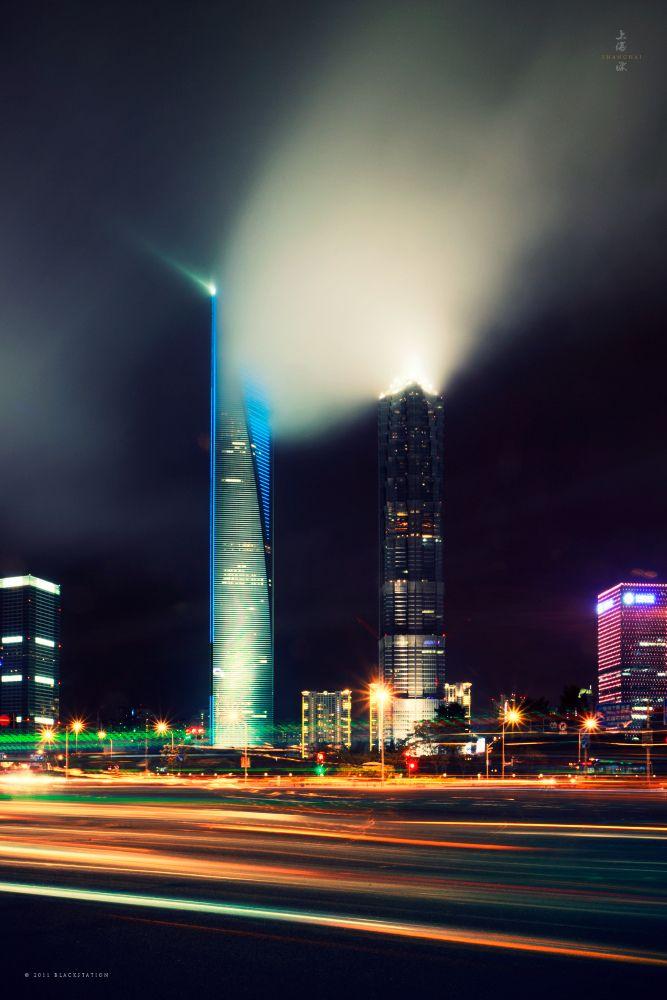 光雨烟云 / a Cloud of Smoke by blackstation     Shanghai World Finance Centre