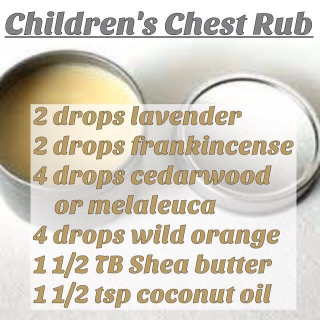 If your children are needing some extra support during this cold and flu season, here's a simple recipe for a chest rub using essential oils that are safe for children. (Cut the number of drops of essential oils in half for children under 5.) ------------