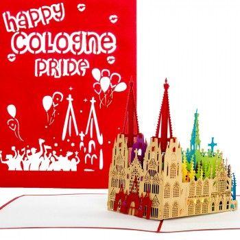Limited Edition: Pop-Up Karten zum CSD Köln  Bereits im vergangenen Jahr kam unserere 3D Pop Up Karte mit Kölner Dom in Regenbogenfarben richtig gut an ... daher haben wir auch für den diesjährigen Christopher Steet Day wieder eine Kleinauflage gefertigt. Papierkunst in 3D - limitiert auf 250 Stück! Die letzten Exemplare findet Ihr in unserem Onlineshop.  #colognepride #csdkoeln #happypride #regenbogen #csdkoeln2017 #gaypride #pridecologne #popupkarten #popupcards #colognecards
