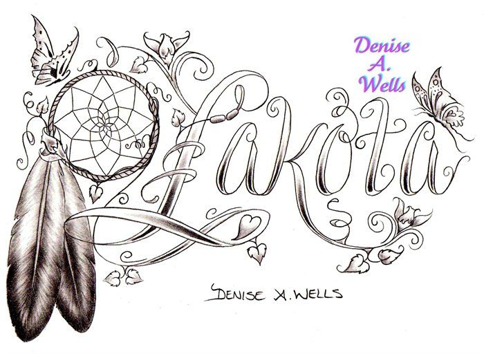 Cool design, I would change it to say Cherokee though. Lakota tattoo design by Denise A. Wells