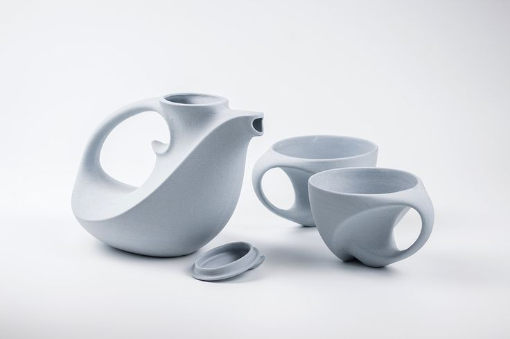 The Namib Tea set - part of our latest series in porcelain