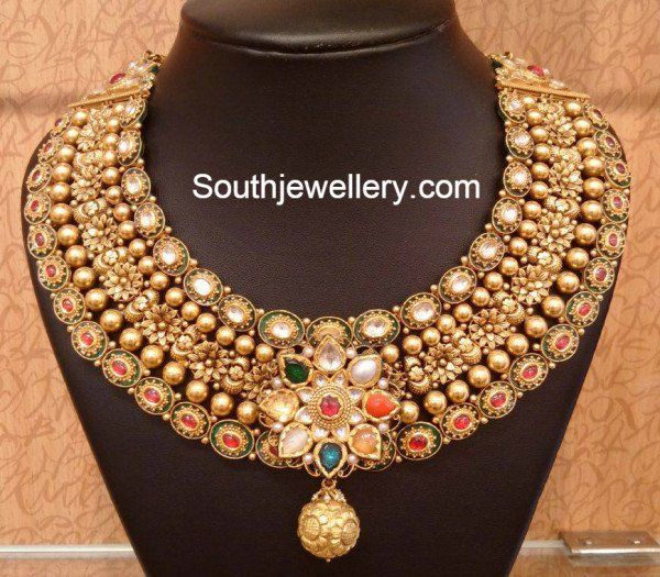 Antique Gold Bridal Necklace photo