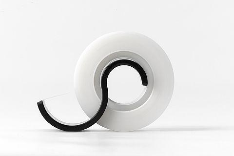Obi - Minimal Tape cutter. By Metaphys, experimental design lab from Japan. #product #design #minimal | www.metaphys.jp