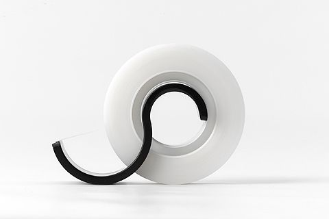 Obi - Minimal Tape cutter. By Metaphys, experimental design lab from Japan. #product #design #minimal | www.metaphys.jp
