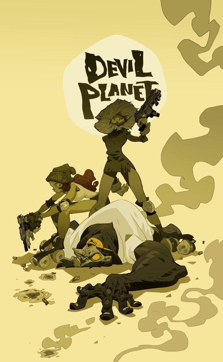 Devil Planet character Winter, Summer and Fifty. facebook.com/kanggoonart facebook.com/devilplanet #art #characterdesign #illustration #artist #drawing #inking #gorilla #monkey #character #gun #sketch #ink #logo #devilplanet #kanggoon