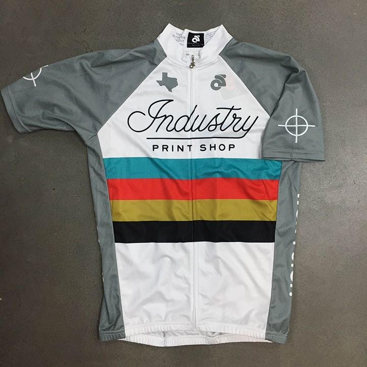 """Bike To Work"" Champion Systems Jersey in White"
