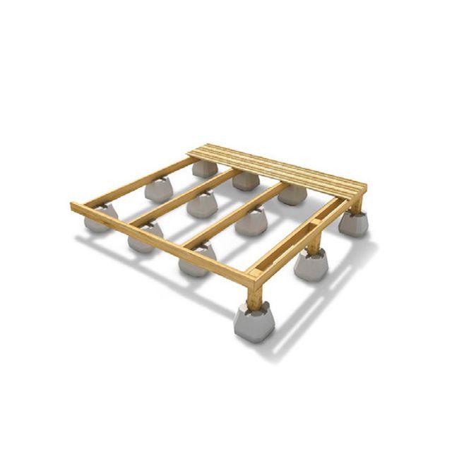 Plot béton pour terrasse - CASTORAMA