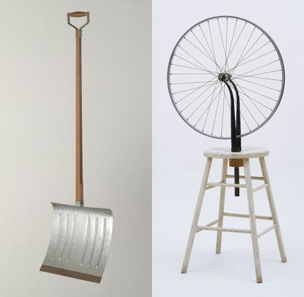 DADA Marcel Duchamp - readymades- everyday objects transformed into art by the will of the artist.  What is the difference between an art object and a utilitarian object?