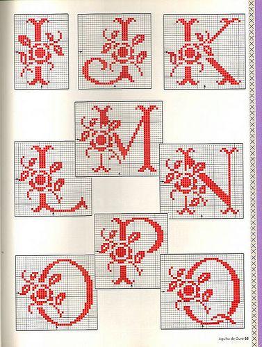 Rose Spray Monogram • 2/3 Letters I->Q