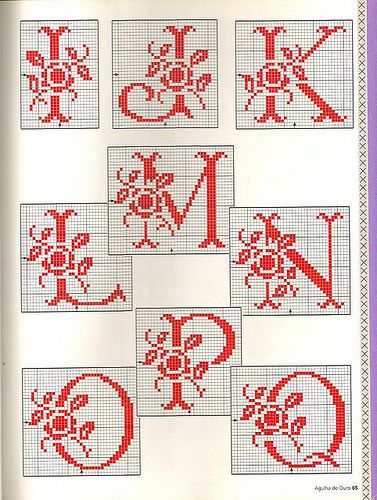 Rose Spray Monogram charts ~ 2 of 3