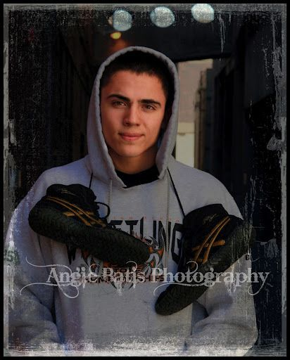 love this for my son Senior wrestling pic  with his High School wrestling hoodie!