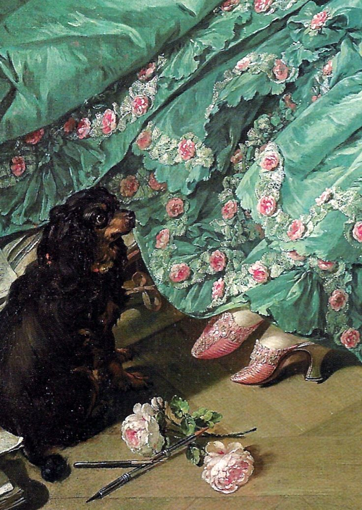 Madame de Pompadour (Detail) by Francois Boucher
