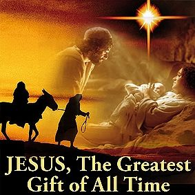 JESUS, The Greatest Gift of All Time! Share Him with others, that is our charter. There is nothing greater that you can do. Life is short, share eternity. <<<