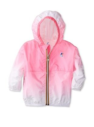 50% OFF K-Way Kid's Claude Faded Ombre Jacket (Pink Fluo/White)