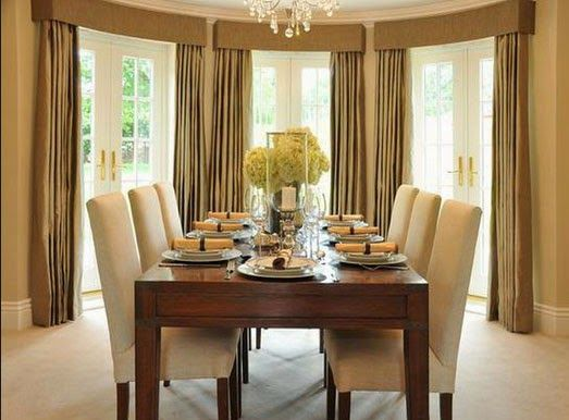 Window Covering Ideas For Dining Room. Curtain Design For Dining Room.  Curtain Ideas For Part 38
