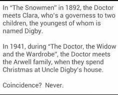"Doctor Who.  And ""Digby"" sounds like ""Digory"".  The name of the professor in the Lion, the Witch, and the Wardrobe, which takes place during WWII.  Digory was the boy in the Magician's Nephew the start of the Narnia series.  Coincidence that their names are similar?  Maybe."
