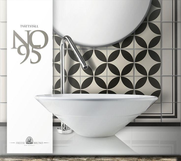 Tvättställ no95, Alton dekorkakel, Tvättställsblandare no26,1.