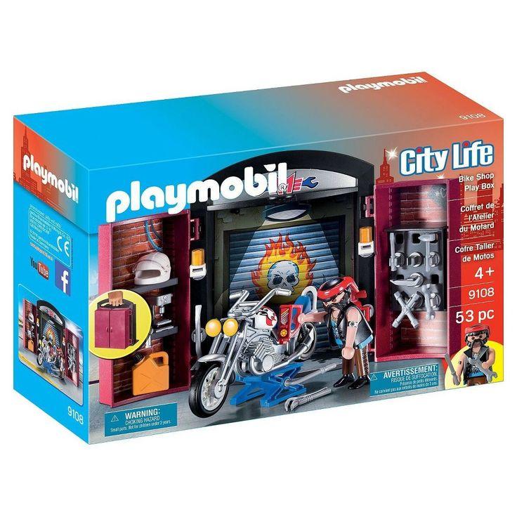 Luxury Playmobil Bike Shop Play Box Mulit Color