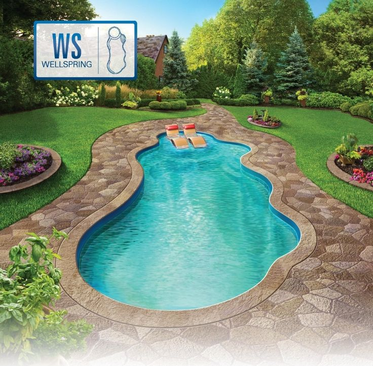 25 best ideas about fiberglass swimming pools on for Inground pool styles
