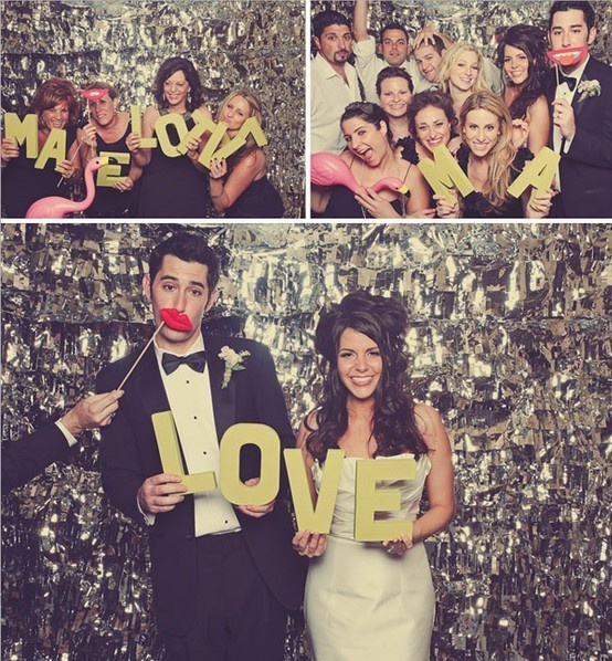 Sparkly Photobooth Backdrop - For more ideas and inspiration like this, check out our website at www.thepartybelle.net