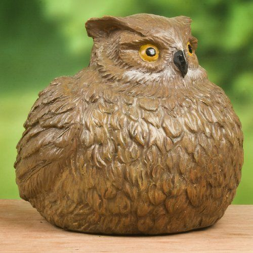 Owl Portly - Medium by Outdoor Decor. $8.04. Weather Resistant. Non-porous to prevent cracking, chipping and peeling. Hand Painted Resin. Made with a mixture of poly resin composite. I am a quality crafted piece of art that will fit right into your current home or garden Decor. My creators always take an incredible amount of care when crafting me. They think its important that I last even if I spend most of my time out in the sun. They used a very high quality p...