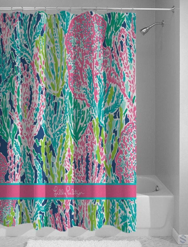 1000 Ideas About Coral Shower Curtains On Pinterest