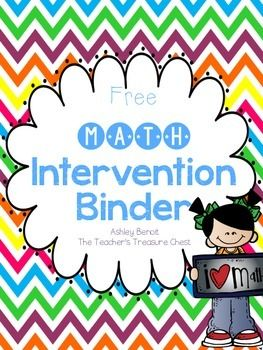 This product is an 11 page preview of my Math Intervention Binder. This binder was designed to help your Kindergarten and First Grade students with difficult math concepts. I created this for use in small group or one on one instruction. Math Intervention Binder