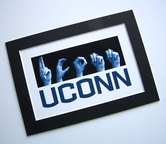 University of Connecticut  UCONN   ASL Sign by LoveLettersbyEmily